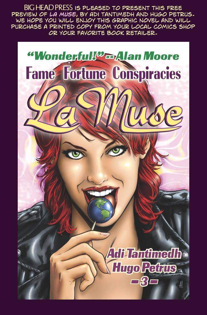 BIG HEAD PRESS is pleased to present this free preview of La Muse, by Adi Tantimedh and Hugo Petrus.  We hope you will enjoy this graphic novel and will purchase a printed copy from your local comics shop or your favorite book retailer.